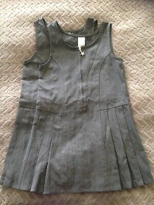 Girls Grey Pinafore Dresses 4-5 Years