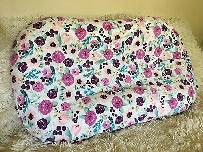 Snuggle Me Organic Cover Baby Lounger Sleeper Pillow Slip Case Floral Girl