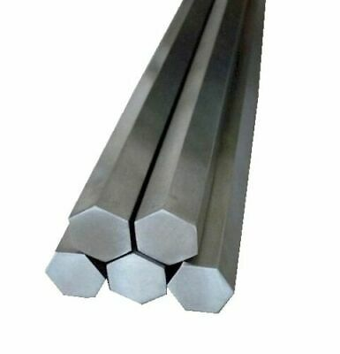 "7/16"" (.437) x 6"" Stainless Steel Hex Rod, Bar 303 Hexagonal"