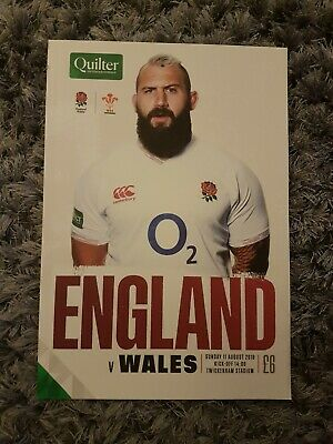 England V Wales Quilter International 11th August 2019 Programme