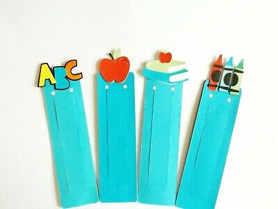 School Learning ABC Bookmarks Children's Teachers Place Marker Gift Set of 3