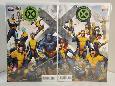 House & Powers of X #4 - Molina Connecting Variants Set (2019) 9.0 VF/NM Hickman