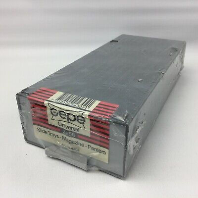 Gepe 4302 Dual 50 2x50 Universal Slide Tray Plastic Stackable Storage Box Sealed