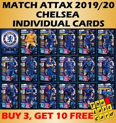 Match Attax 2019/20 Chelsea Individual Cards 37-54 - Buy 3 Get 10 Free!