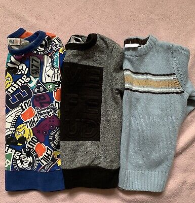 H & M & Sonoma Toddler Boy Lot Of 3 Long Sleeve Tops SZ 3T GUC
