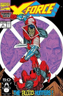 X-Force #2 VF/NM Deadpool, Cable, Liefeld, Marvel Comics 1991
