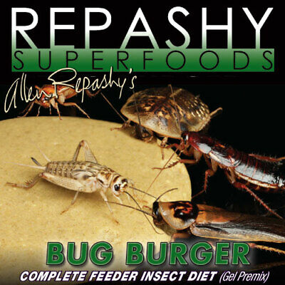 Repashy Bug Burger Feeder Insect Diet Roach Cricket  12 oz 340 g Bearded Gecko