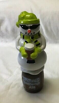WINTER'S BOURBON CASE ALE Vintage Beer Tap Handle Snowman