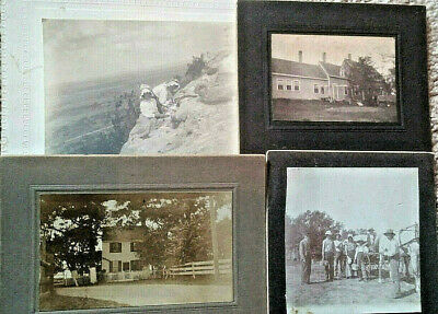 4 Early Sepia Cabinet Photographs