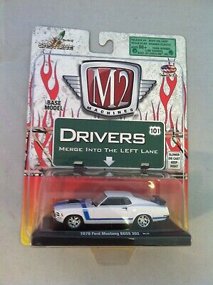M2 Machines  On Card Drivers Series 1970 Ford Mustang Boss 302