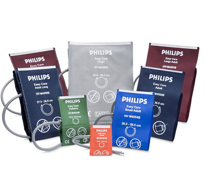 New Philips M4556B5 OEM Easy Care NiBP Blood Pressure Cuff, Adult Long, Box of 5