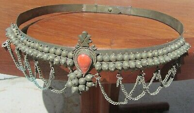 Wild Unusual Antique Tribal Middle Eastern Islamic Belt 19Th Century Oriental