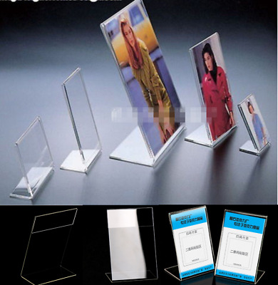 Acrylic Poster Menu Holder Perspex Leaflet Display Stands A3 A4 A5 A6 ddee