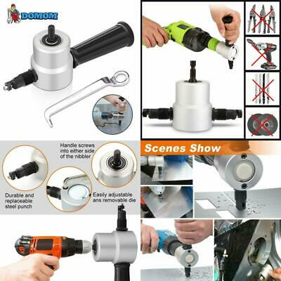 Domom Zipbite Nibbler Cutter Drill Attachment Double Head Metal Sheet Wrench Set