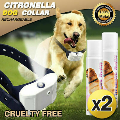 Rechargeable Dog Citronella Anti Bark Training Stop Barking 1 Collar + 2 Spray