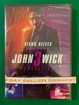 John Wick Chapter 3 Parabellum DVD {{AUTHENTIC READ LISTING}} New Free Shipping