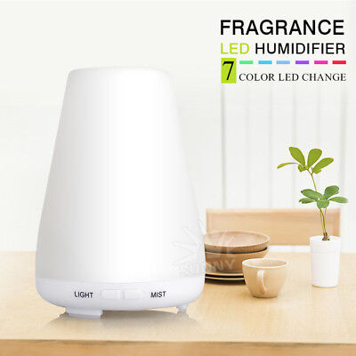 LED Oil Ultrasonic Diffuser Humidifier Purifier Essential Aroma Aromatherapy