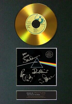 PINK FLOYD Dark Side Of The Moon Signature / Autograph Signed GOLD CD #96
