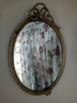ANTIQUE 18TH CENTURY gold gilded OVAL carved WALL MIRROR Henry Atkins Smith Bros