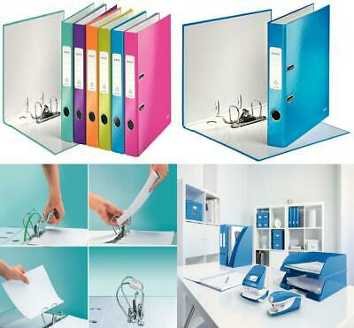 Leitz Lever Arch File, Assorted, A4, 50 mm spine Holds 350 Sheets, Assorted