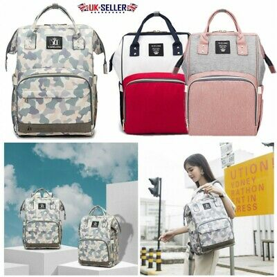 Baby Diaper Nappy Mummy Changing Bag Maternity Hospital Multi-Function Backpack