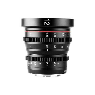 Meike MK 12MM T2.2 Manual Cine Lens for MFT Micro 43 BMPCC 4K Panasonic Olympus