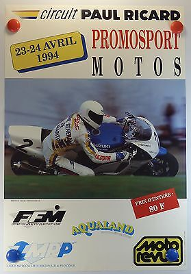 1994 Circuit Paul Ricard Moto Promosports affiche ancienne /15PB