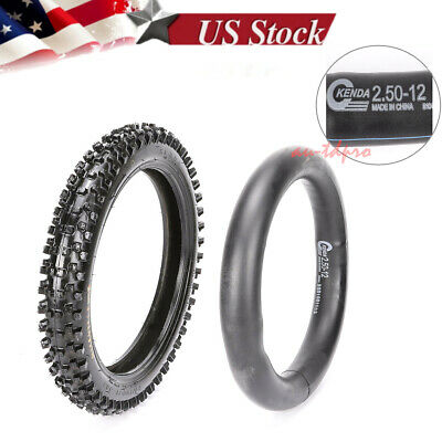 "KENDA 2.50-12 60/100- 12"" Inch Knobby Tyre Tire PIT Dirt Bike Off-road Motocross"
