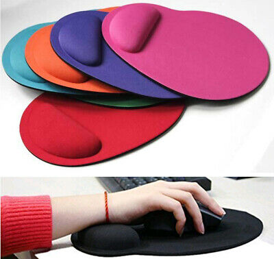 New Anti Slip Comfort Pc Laptop Mouse Mat Pad With Foam Rest Wrist Support Gift