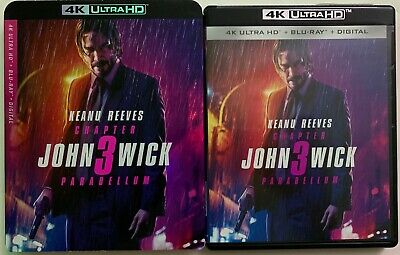 John Wick Chapter 3 Parabellum 4K Ultra Hd Blu Ray 2 Disc Set + Slipcover Sleeve