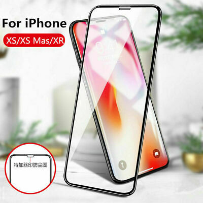 For iPhone 7 8 11 Pro Max - Full Cover 9H Tempered Glass Screen Screensaver