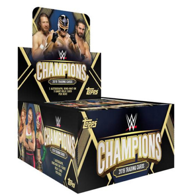 Topps WWE Champions 2019 Wrestle Mania Foils And Base Trading Cards New x28.