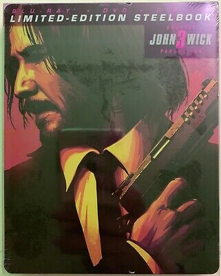 New John Wick Chapter 3 Parabellum Bluray Dvd Digital Target Exclusive Steelbook