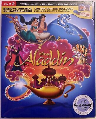 New Disney Aladdin Animated 4K Ultra Hd Blu Ray 2 Disc Target Exclusive Digipack