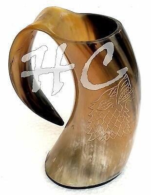 Super OX-Designed Burnt Viking Drinking Horn Hunting Cup Mug Game of Thrones A
