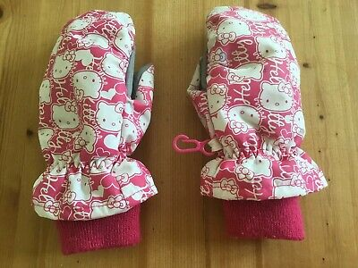 H&M Hello Kitty Mittens Winter Pink Gloves Age 2-4 Years