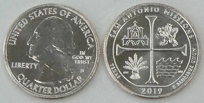 USA Quarter America the Beautiful - San Antonio Missions D 2019 unz.