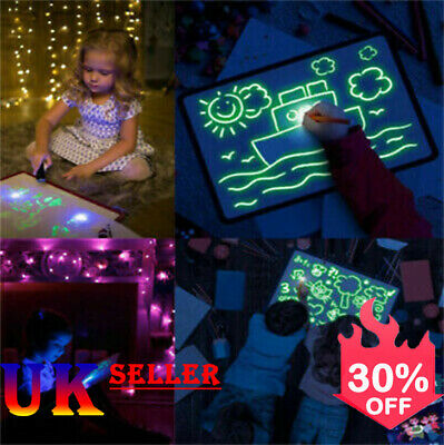 Draw With Light Fun And Developing Toy Drawing Board Magic Draw Educational UK^