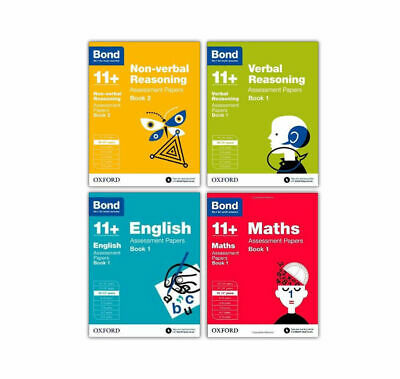 Bond 11 plus 10-11 Year Assessment Paper English Maths Verbal Reason 4 Books New