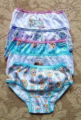 Frozen Briefs / Underpants / Knickers x 5 - 100% Cotton - Age 6 Years - New