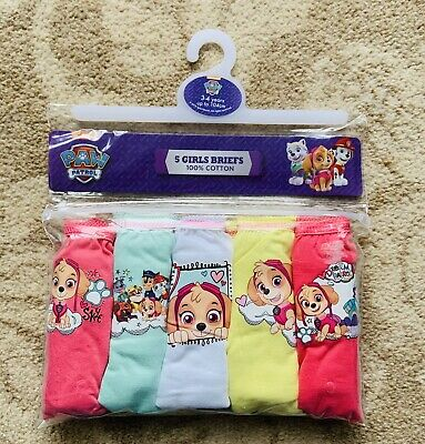 Paw Patrol Briefs / Underpants / Knickers x 5 - 100% Cotton  Age 3 - 4 Years New
