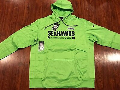 best cheap 290d2 80cb5 SEATTLE SEAHAWKS NIKE Neon Lime Green KO Hoodie Sweatshirt ...