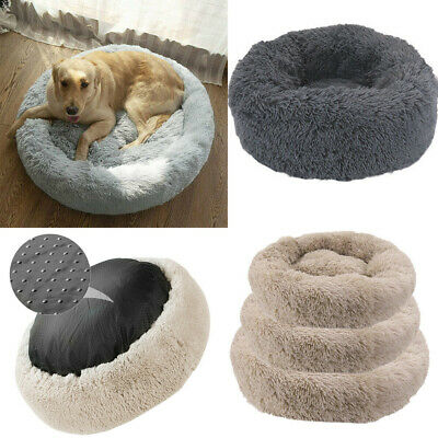 Improved Sleep Donut Cat Bed  Faux Fur Dog Beds for Medium Small Calming Cuddler