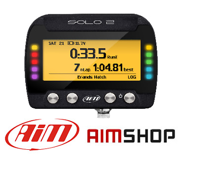Aim Solo 2 Motorcycle Track Racing Sports Bike Gps Lap Timer