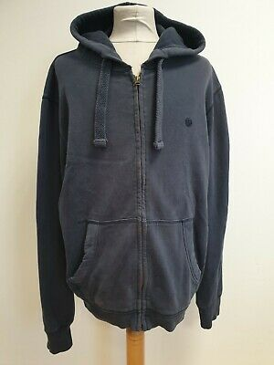K877 Mens Fat Face Blue Full Zip Tracksuit Jacket Hoodie Uk L Eu 52 Baggy