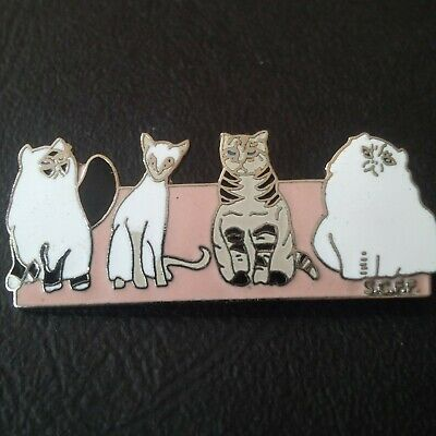 pin badge pin's chat cat animal animaux BROOCH BROCHE