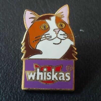 pin badge pin's chat cat animal animaux whiskas marque