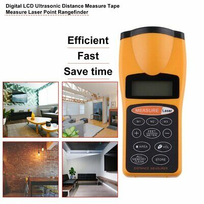 Distance Meter Measurer Digital Laser Area Volume Range Finder Measure GN