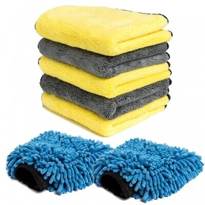 Microfibre Car Cleaning Cloths Mitts Large 40X40 Microfiber Drying Washing Towel