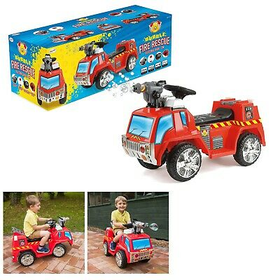 Toyrific Fire Engine Electric Ride On Car Kids Battery Operated 6V Bubble Gun